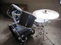 Beginners blue drum set, good condition, no top hat #