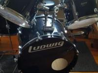 "Ludwig drum set includes 22"" Bass w/pedal 16"" Floor"