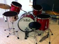 Diamond drum set + silencers + seat - son has moved on