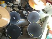 I have a blue drum set, I have used it as a practice