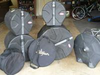 Hard Cases for Drums and cymbal