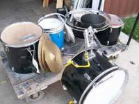 for sale 5 drums , 3 cymbals, stool. 85.00. roy