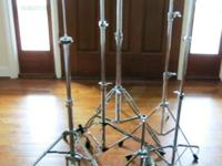 VARIOUS CYMBAL STANDS and LUDWIG HERCULES HIHAT These