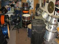 I have many drum kits for sale and tons of single piece