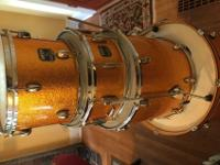 Drum Kit without hardwareGold Sparkle FinishShell