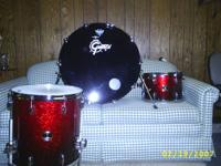 Drums. Fresh Gretsch Renown 16x24 bass 13x9 and 16x16
