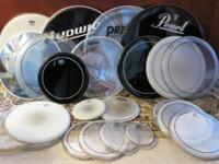 24 VARIOUS DRUM HEADS PRICED TO SELL HEADS RANGE FROM
