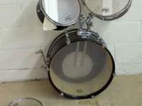 This listing for local, cash-only sale. 4 piece drumset