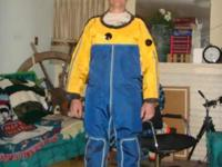 Commercial Dry suit for cold water/hard work/one only.
