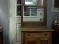 100+ yr old dry sink. Solid oak. All original except