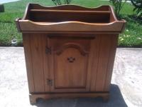 Up for sale is an older dry sink. The wood is in