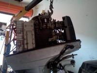 Parting out 1986 150 hp Suzuki Super six outboard w