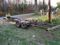 nice 22 foot trailer project. dual axle with brakes.