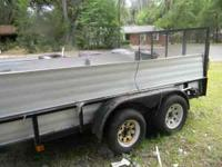Dual axle trailior 6 by 12 heavy duty $1000.00 great