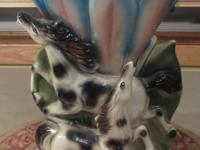 dual horse vase in excellent condition 2 lbs 4 oz 10.5""