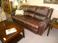 Great Leather Sofa with Nailhead Detail~ GREAT