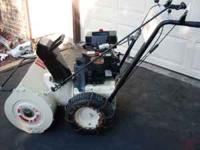 This is a 6hp 24 inch ROPER SNOWTHROWER. Runs fine. Has