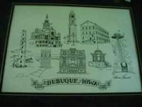 Artist Maureen Frommelt Matted Print of Dubuque 's 8