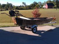 2010 bass tracker 14x36 Jon boat with 5hp Honda mudd