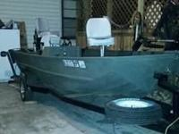 Boat- new paint, carpet, seats, trolling motor, indoor