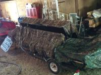 Selling our duck hunting boat. 16ft with a 25 hp Yamaha