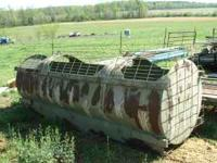 DUCK HUNTING PIT MADE FROM A ROUND TANK--$350.00 --