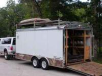 The trailer is a 2005 Haulmark 8.5' x 16' that comes