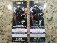 My spouse and I will run out town for the Duke vs.