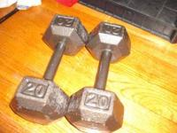 I have a set of 20 lbs and 30 lbs dumbbells. I just