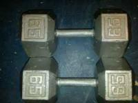 CAP CAST IRON DUMBBELLS----65LBS SET--$70, 70LBS