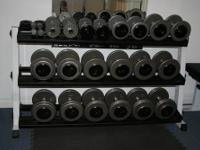 Dumbbells ? Professional style dumbbell and grip, gray
