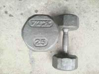 This a pair of VTX 25lb dumbells. $25.00 obo call or