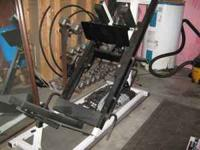 Leg sled hack squat machine like new$550 obro hex