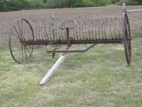 I have a dump rake for sale that would be good yard art