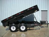 "7x12 Dump Trailer, Brand New. 82"" wide by 12' long"