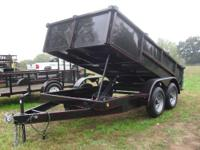 Dump Trailer 6x12' in stock(2) 5200 LBS New Wheels and