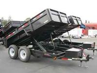 7x14 dump trailer built by carry on ask for DAVE