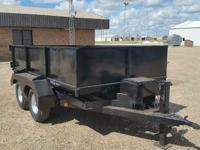 Custom made dump Trailer located in plainview TX. Cash
