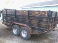 2001 dump trailer works great, great. this trailer is