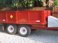 Hydraulic Heavy Duty Dump Trailer 14k GVW Dimensions