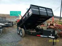 I have 6'8x12 Moritz dump trailers. If you are looking