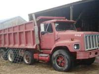 1988 tri-axle dump truck for sale. Would be great for