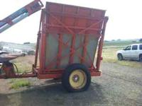 NICE HYDRALIC DUMP WAGON, WORKS GOOD. FOR MORE INFO