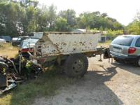 Dump Box on Super Heavy Duty Military Trailer With