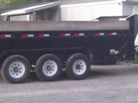 09 16 ft load trail 3 axle dump trailer used maybe 30