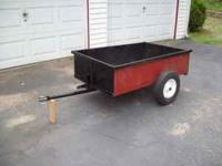 "32' wide by 48"" long and 12"" deep trailer is all medal"