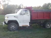1987 Ford dump truck. cat. engine, air brakes. ready to