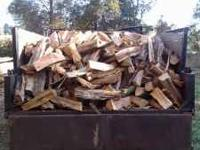 All hardwood and split firewood delivered locally! This