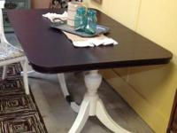 Duncan Phyfe style 2 pedestal table. Top is recently