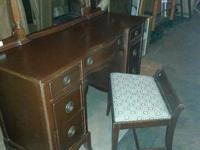 Duncan Phyfe Vanity and chair (I am guessing Mirror is